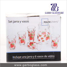 7PCS Printing Water Glass Set (GB12017-3-YH1)