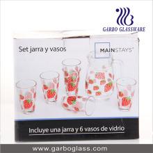 7PCS Druckwasser-Glas-Satz (GB12017-3-YH1)