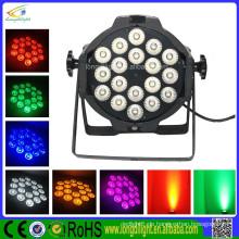 China LED Par 64 3W Schwarz 18 x 3W RGB Tri Pro LED Par Dose 64