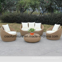 Handmade PE Rattan Sofa for Outdoor Use (FS043)
