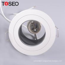 Pure aluminium recessed led lighting gu10 ceiling anti glare led downlight fixture