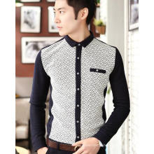 Long Sleeve Leisure/Casual Standing Collar Fashion Men Shirt