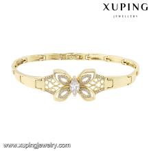 74584 Mode Elegant Schmetterling Zirkonia Schmuck Armband in 14k Gold Farbe