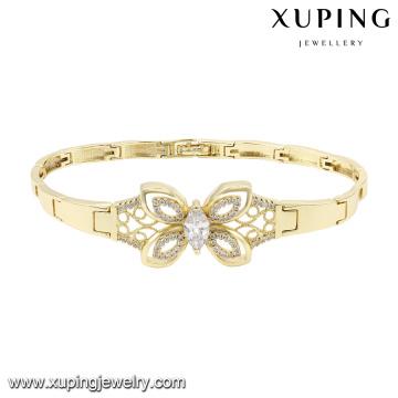 74584 Fashion élégant papillon zircon bijoux bracelet en couleur or 14k