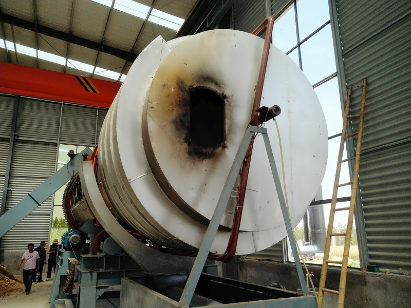 Rotary activation furnace machine