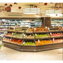 Supermercado estante estante fruta pantalla madera estante (BDS-28)