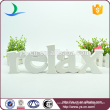 white color stereo RELAX shape sign letters