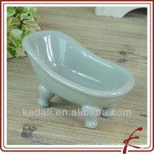 Hot Céramique Porcelaine Mini Baignoire Savon Accessoires pour salle de bain