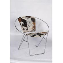 Chaise de jardin en cuir