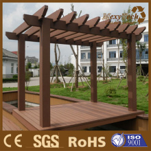 Foshan Garden Composite Wood Pergola, Outdoor Lounge Area.
