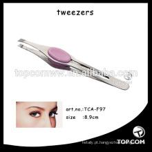 Pinças de sobrancelha em linha reta / função Lady Tweezers Eyelash Extension