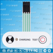 PET um botão e um interruptor de membrana LED com 3M300LSE
