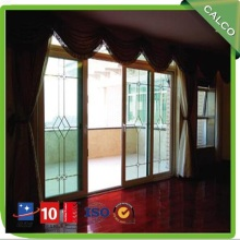 Double glass aluminum sliding door