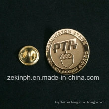 Oro de alta calidad Die Struck Casting Badge