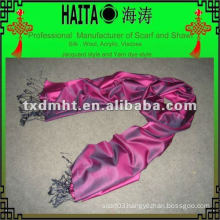 Rose red silk scarf HTC168-15