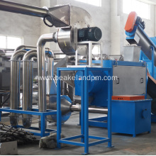 pe pp crushing washing drying recycling line