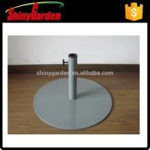 Base de parasol ronde en acier, base en acier, base en fer