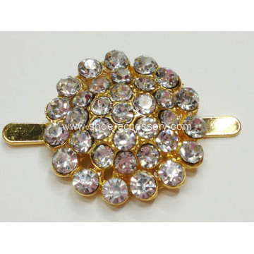 Sparking Round Shapes Rhinestone Shoe Clips