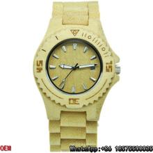 Relojes de cuarzo de alta calidad de fecha de relojes de madera de arce
