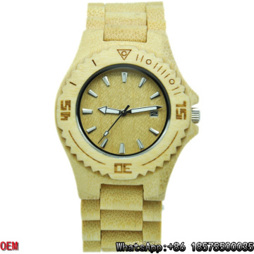 Top-Quality Maple-Wooden Watches Date   Quartz Watches