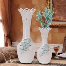 Handgemachte europäische chinesische Glasur blau und weiß Porzellan Vase
