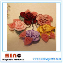 2016 New Product Creative Fabrics Rose Fridge Magnet Hook