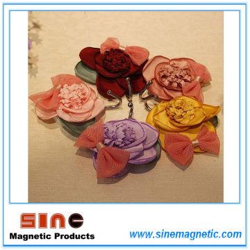 2016 New Product Creative Fabrics Rose Fridge Magnet Hook
