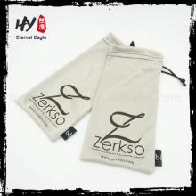 bolsa de vidro, logotipo impresso microfibra óculos de soft case, bolsa de óculos de sol de microfibra eco-friendly