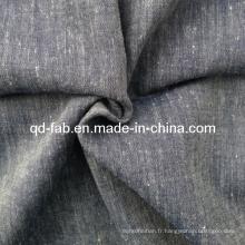 Tissu en lin mélangé de coton (QF13-0750)