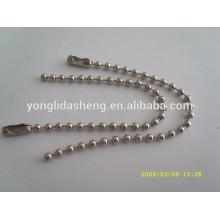 Cadeia de metal de alta qualidade decoração metálica cadeia de bola à venda