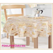 Usine de toile de table imprimée imperméable à l'eau de PEVA imperméable à l'huile