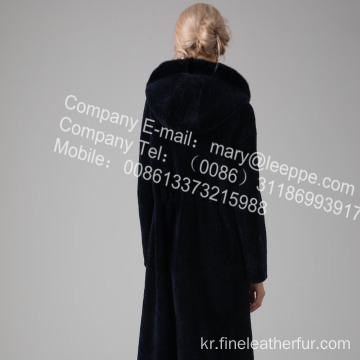 긴 가역 Merino Shearling Women Coat