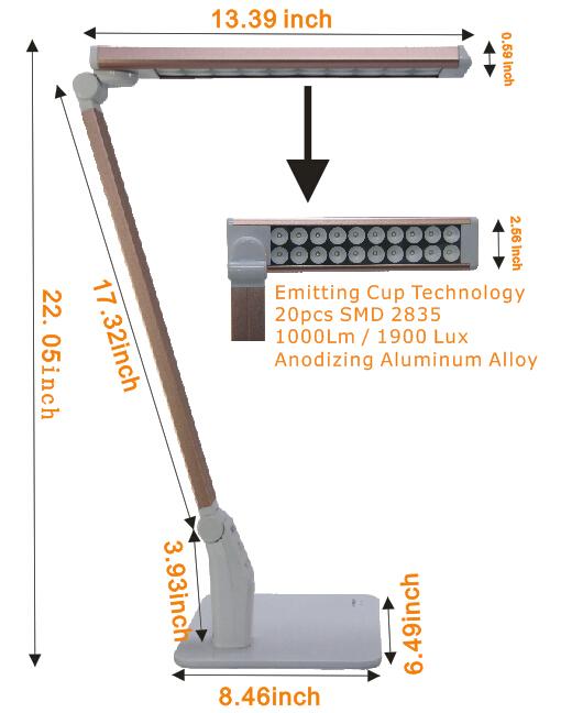 Lâmpada de escritório de alta iluminação lâmpada de leitura de luz