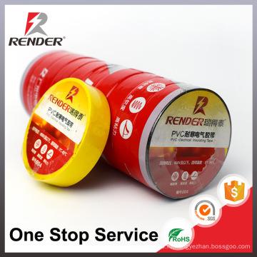Электронные Гуанчжоу пламя-retardant PVC винила трубы лента черный белый красный желтый синий зеленый Промышленный скотч