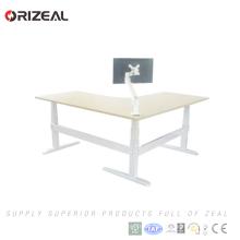 2018 meistverkaufte höhenverstellbare sitzen stehen elektrische ergonomische Schreibtisch akzeptieren OEM