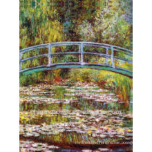 Handpainted Stretched Bridge Oil Painting For Home Decor