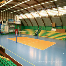 Tapis de sol en rouleau de sport volleyball en PVC intérieur