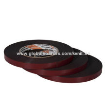 Auto Foam Tape, Black PE Foam with Solvent, Red Release Film, Good Adhesion to Rough Complex Surface