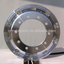 Roda de caminhão de alumínio de alta resistência 22,5 polegadas, rodas de caminhão e ônibus para venda quente