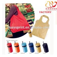 Saco de supermercado em massa dobrável saco de nylon nylon saco de compras saco de poliéster impermeável grande