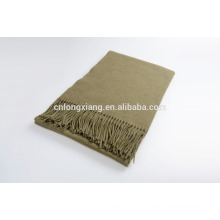 100% xale de lã com franja