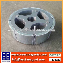 Zn coated arc Neodymium magnet for sale/pmdc motor NdFeB magnet for sale