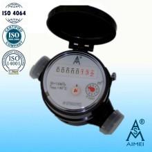 Single Jet Dry Dial Kunststoff Kleine Wasserzähler