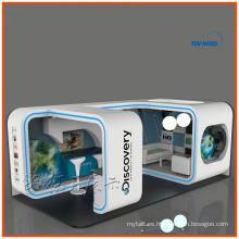 Exhibición de la cabina de exhibición de la feria profesional 3x6, sistema personalizado de la cabina de exposición de la exhibición del arco 10x20 de Shangai