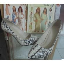 Moda de salto alto apontou toe sapatos de vestido (HCY002-1100)