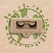 Eco-Friendly Paper Based Material Eyelash Tray Own Logo Packaging For 3D Vegan Faux Mink Lashes Environmental Friendly Box