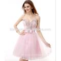 Alta qualidade frisada serviço de OEM suzhou noite vestido curto saree aberto quente sexy girl foto com decote querida