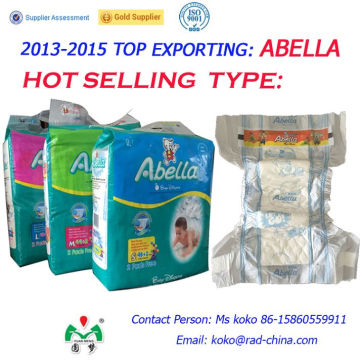 Abella Jumbo Pack Africa Quality PE Back Film Magic Tape Soft Comfortable Baby Diapers