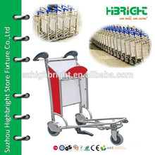 airport passenger luggage trolley