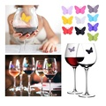 Food Grade Butterfly Silicone Glass Marker for Party